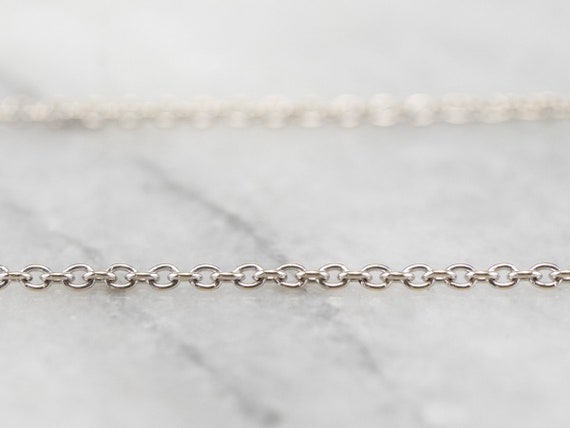 Adjustable 18K White Gold Oval Link Chain, Gold Li
