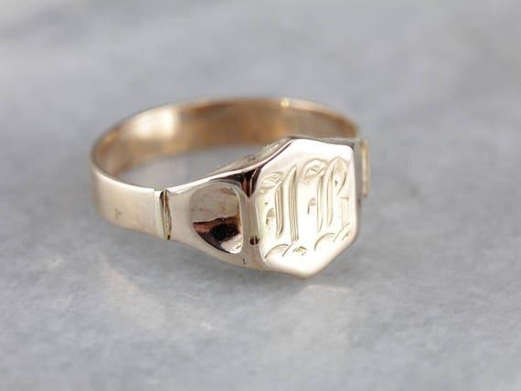 "Vintage Monogram ""IB"" Signet Ring, Men's Vintage S"