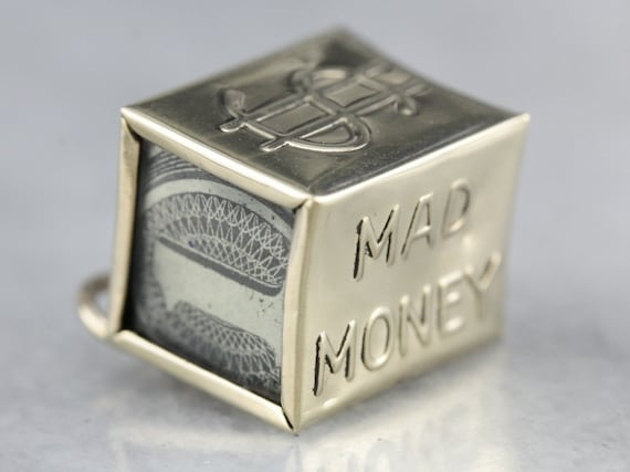 Vintage Mad Money Charm, Emergency Funds Charm, Mo