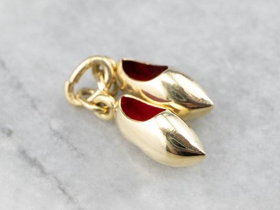 Gold Dutch Clog Charm, Shoe Charm, Clog Charm, Ena