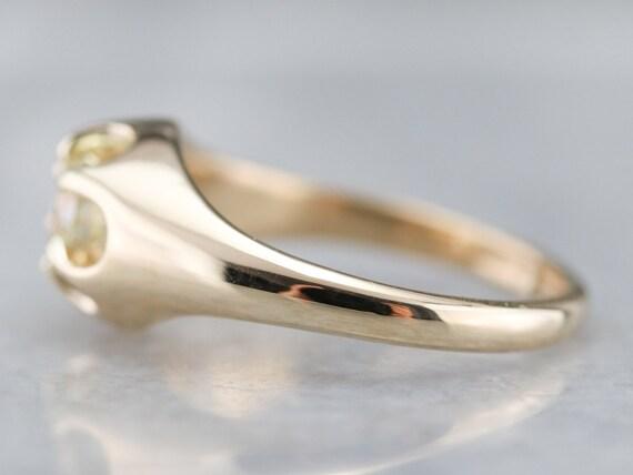 Unisex Diamond Belcher Ring, Antique Diamond Soli… - image 4