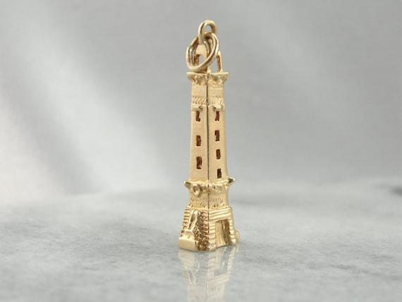 Vintage Souvenir Tower Charm in Fine Souvenir UT8Y