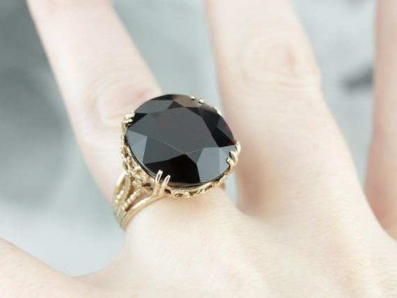 Stunning Collector's Quality Garnet Cocktail Ring… - image 5
