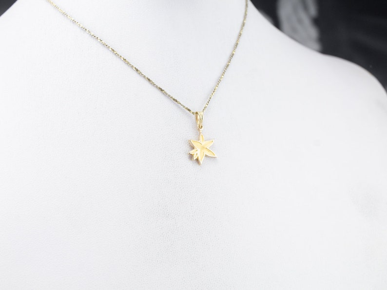 Gold Flower Pendant Anniversary Gift NNYQU1MF Flower Necklace Yellow Gold Flower Pendant Layering Pendant