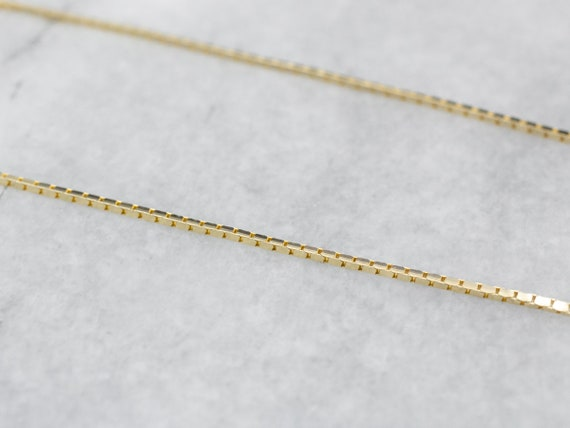 14K Gold Box Chain, Thin Chain, Gold Necklace, Pen
