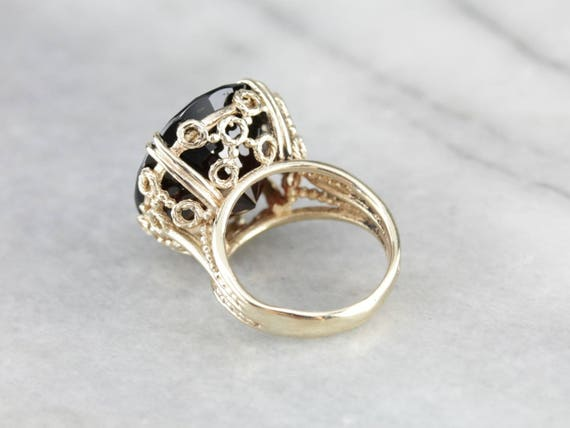 Stunning Collector's Quality Garnet Cocktail Ring… - image 3