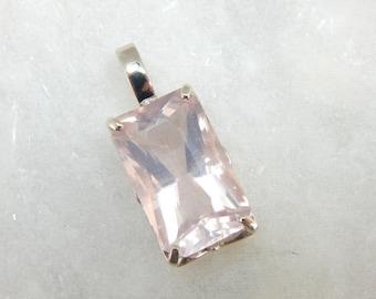 Soft Pink Cherry Blossom Quartz Pendant In White Gold 22361U-N