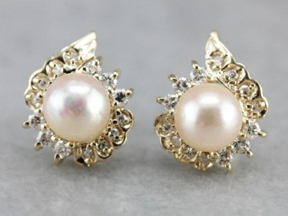 Vintage Gift Idea Vintage Pink Pearl Round Cluster Clip On Earrings Summer Pink Pearl Earrings Pink Earrings Weddings