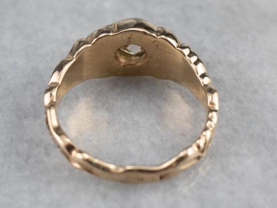 Botanical Champagne Diamond Ring, Champagne Diamo… - image 5