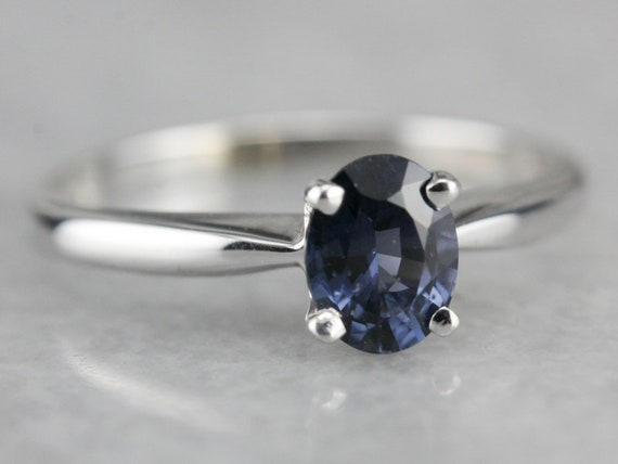 Size N SPINEL SOLITAIRE 9ct Gold engagement Ring