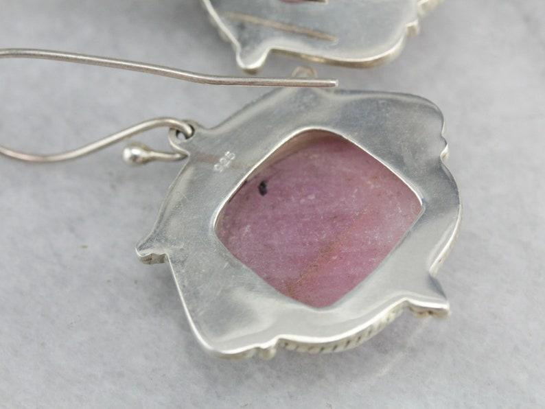 Faceted Ruby Drop Earrings Sterling Silver Ruby Crystal Earrings Statement Earrings 8W33U86W