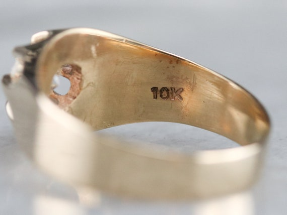 Belcher Set Diamond Ring, Unisex Diamond Solitair… - image 5