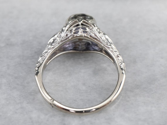Spinel White Gold Filigree Ring, Solitaire Ring, … - image 5