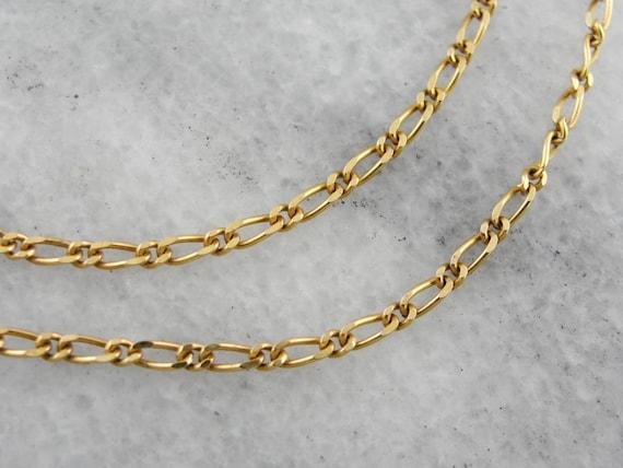 Vintage Figaro Chain Engravable Bracelet 925 Sterling BR 2187