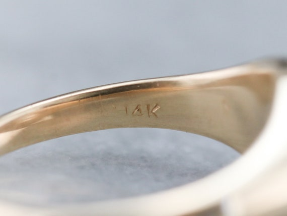 Unisex Diamond Belcher Ring, Antique Diamond Soli… - image 6