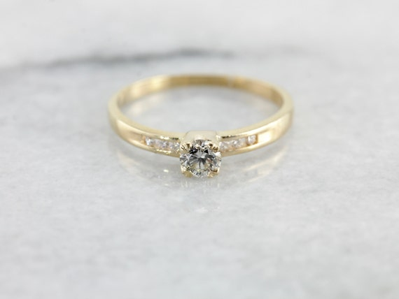 Simple Contemporary Diamond Engagement Ring 1ERA6T