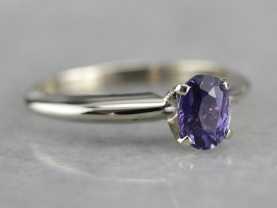 Purple Sapphire Ring, Sapphire Engagement Ring, So