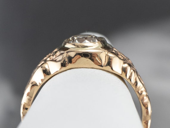 Botanical Champagne Diamond Ring, Champagne Diamo… - image 9