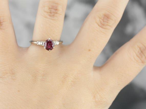 Hubsche Rubin Verlobungsring Rubin Und Diamant Rechte Hand Etsy