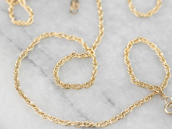 "14K Gold Rope Chain, 18"" Chain, Gold Necklace, Lay"