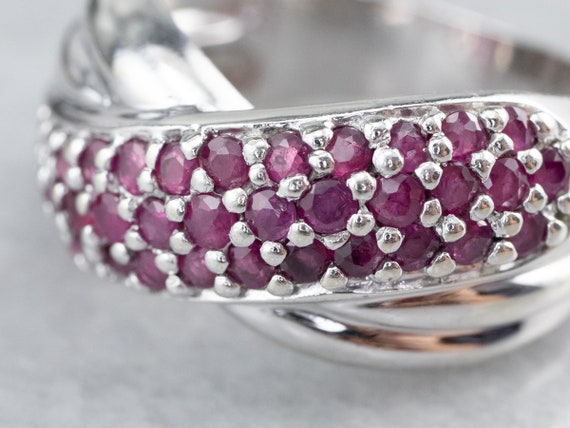 Sterling Silver Ruby Twist Band, Ruby Statement R… - image 6