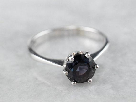 Color Change Garnet Ring, Garnet Solitaire Ring, W