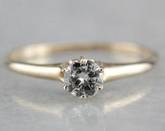 Antique Victorian Diamond Engagement Ring, Antique Engagement Ring, Victorian Diamond Ring A4MY27-N