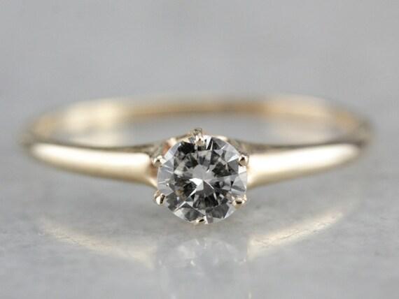 Antique Victorian Diamond Engagement Ring, Antiqu… - image 1
