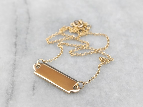 14K Gold ID Chain Anklet, Name Plate Anklet, Ready