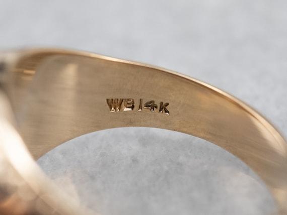 Unisex Old Mine Cut Diamond Ring, Vintage Diamond… - image 5