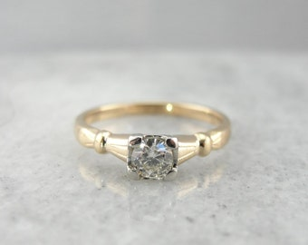 Vintage Retro Era Diamond Engagement Ring 120YXF-N