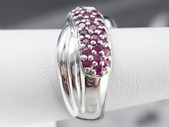 Sterling Silver Ruby Twist Band, Ruby Statement R… - image 9