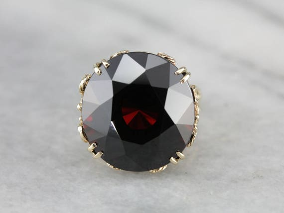 Stunning Collector's Quality Garnet Cocktail Ring… - image 1