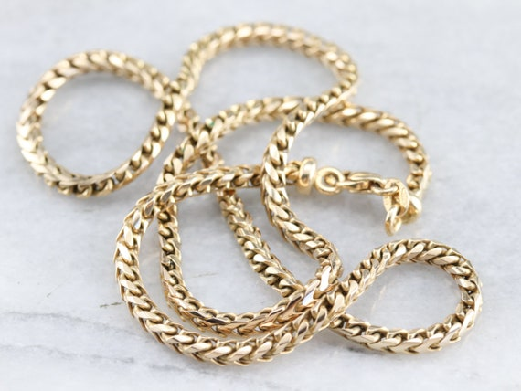Yellow Gold Woven Chain, Woven Chain Necklace, Pen