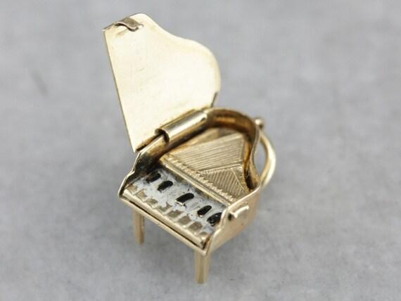 Piano Melody, Vintage Enamel Moving Parts Piano Ch