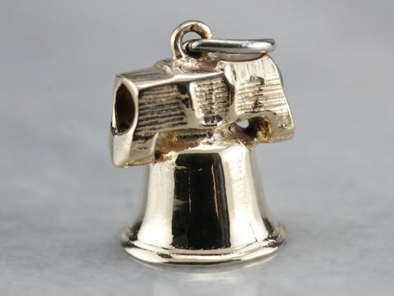 Vintage Liberty Bell Charm, Historical Charm, Unis