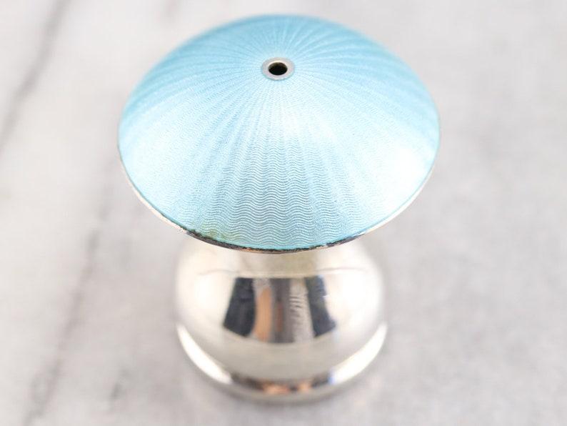 Danish Blue Enamel Salt Shaker Danish Sterling Silver Salt Shaker Silver Mushroom Shaker FECLAKC5 Mushroom Salt Shaker