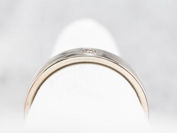 Bezel Set Diamond Band, White Gold Diamond Band, … - image 8