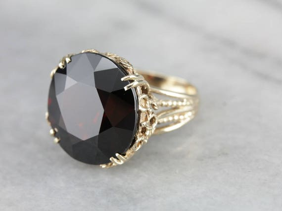 Stunning Collector's Quality Garnet Cocktail Ring… - image 2