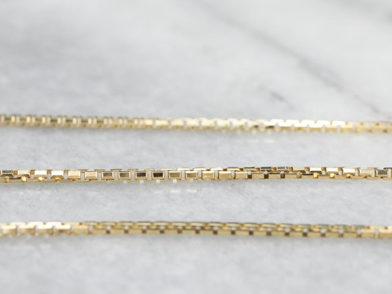 14K Gold Box Chain, Gold Necklace, Pendant Chain,