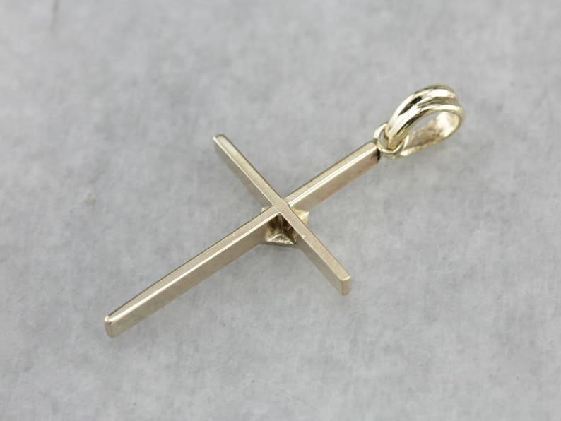 Religious Jewelry 357C5WJU-P Diamond Gold Cross Pendant