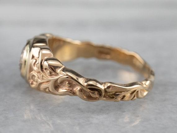 Botanical Champagne Diamond Ring, Champagne Diamo… - image 4