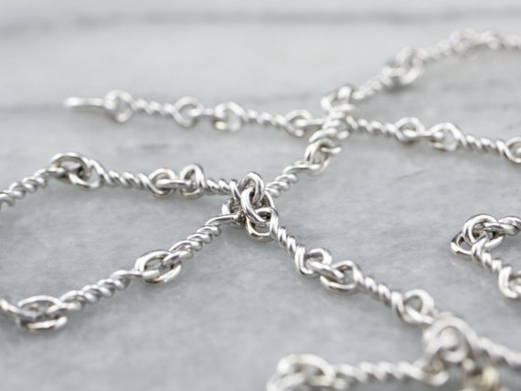 Nautical Gold Link Chain Necklace, White Gold Neck