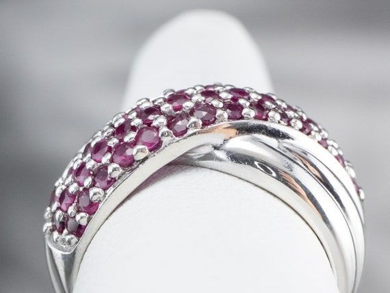Sterling Silver Ruby Twist Band, Ruby Statement R… - image 8