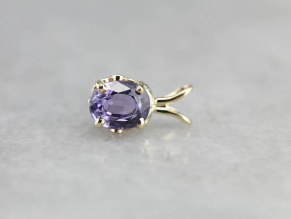 Lavender Sapphire Pendant, September Birthstone, L