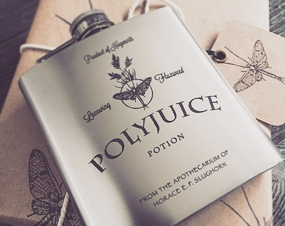 Polyjuice Gift Wrap - Gift Box & Funnel Set with Hip Flask