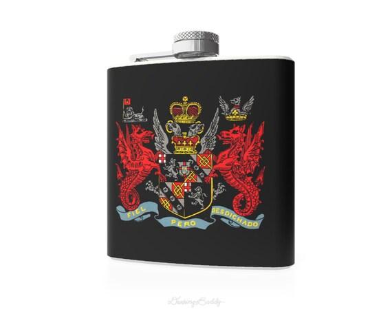 Arms of Winston Churchill - 6oz Whiskey Hip Flask - Vinyl