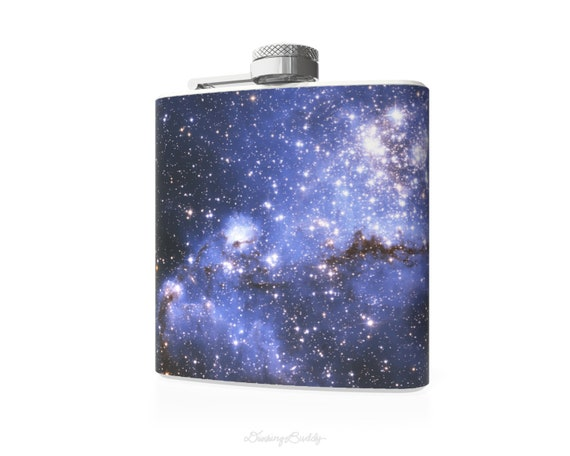 Small Magellanic Cloud of Stars - 6oz Whiskey Hip Flask