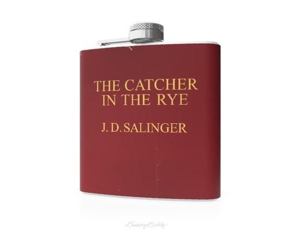 Vintage Catcher in the Rye inspired  - 6oz Hip Flask - Vinyl