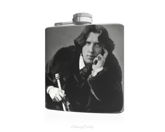 Oscar Wilde - Work is the curse  of the drinking classes - Liquor 6oz Hip Flask - Vinyl